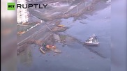 Aerial Footage Shows Destruction of 8.3 Chile Quake