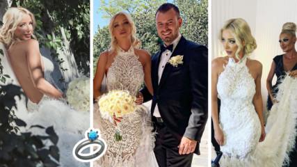 Миската Ваня Пейчева каза ''да'' на любимия си! Вижте кадри от сватбата