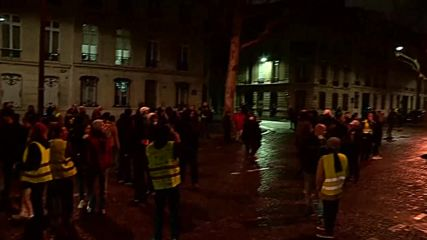 France: 'Yellow Vest' protest continues into night