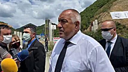 """Борисов отиде на мястото на срутването в тунел """"Железница"""""""