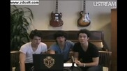 Jonas Brothers Live Facebook Webcast Part 1