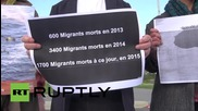 France: Activists unravel 100 metre-long list of migrant victims outside EU parliament