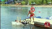 Инвалид на плаж (скрита камера)