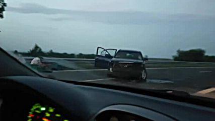 """Колата се е завъртя на магистрала """"Тракия"""""""