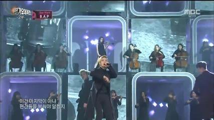 151231 160101 B.a.p - Warrior + Young, Wild & Free @ Mbc Gayo Daejejun