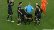 Всички удари между футболистите - Испания - Холандия 1 на 0 2010 World Cup