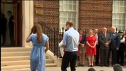 Кейт и Уилям показаха за първи път новороденото си бебе
