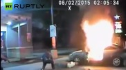 Полицаи предотвратяват опит на мъж да се самозапали