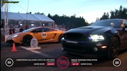 Ford Mustang Gt500 vs Lamborghini Gallardo Lp570-4 Sl Ugr