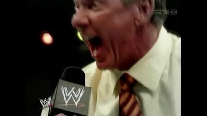 Shawn Michaels kisses Mr. Mcmahon ass