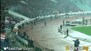 Сектор Г запали стадион Васил Левски