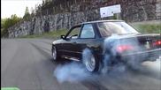 Нечовешки бърнаулт с Bmw E30 V8 !