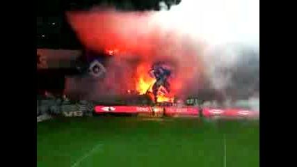Страшен Пожар На Стадион Народни Трапища!!