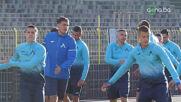 Футболистите на Левски тренират с настроение преди Черно море