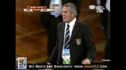 06.07.2010 Уругвай - Холандия 2:3 Гол на Перейра - Мондиал 2010 Юар