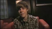 Justin Bieber Interview - Отговаря на въпросчета :)