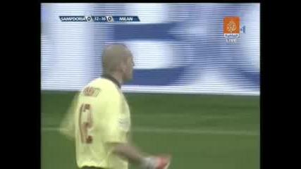 01.03 Сампдория - Милан 2:1 Антонио Касано Гол