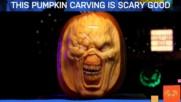 Ужасяващ карвинг върху тикви за Хелоуин