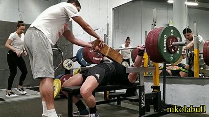 2019.12.21 - Workout IV-C - SQ 4x145 kg BP8 3x170 kg BP16 3x210 kg R 6x132 kg