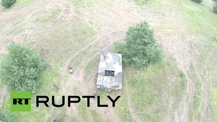 Russia: Drone captures DefMin's newest APCs in full-firing action