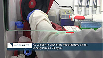 42 са новите случаи на коронавирус у нас, излекувани са 93 души