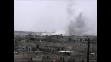 Сирийският град Хомс отново беше подложен на обстрел
