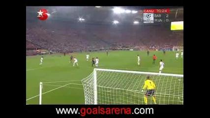 Барселона 2:0 Манчестър - Меси Гол