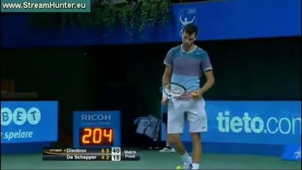 Григор Димитров на 1/2 финал след победа над Кени Де Шепер !