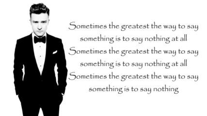 Justin Timberlake - Say Something ft. Chris Stapleton Lyrics (studio version)
