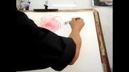 Рисуване на рози-демонстрация от Adisorn Pornsirikarn (акварел)