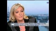 """Семеен скандал между Марин и Жан-Мари льо Пен раздели френския """"Национален фронт"""""""