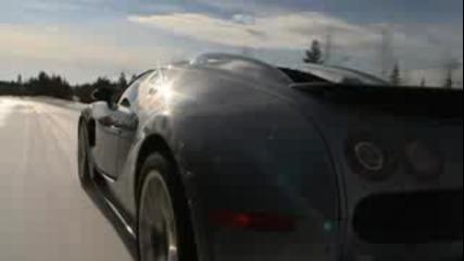 Bugatti Veyron 16.4 In Snow Test Drive