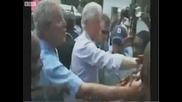 Буш си бърше ръката в ризата на Клинтън !