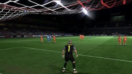 Joao Moutinho Amazing Goal Fifa 11 - гол на фифа 11 , специално за Дулето и Пецата