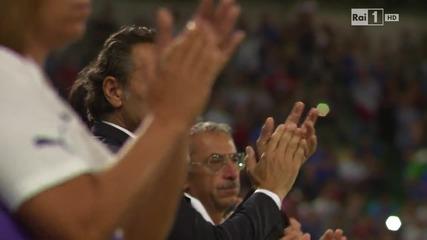 Треньорът на Италия кара целия стадион да ръкопляска на Българския химн.