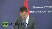 Serbia: Hungarian FM talks of Europe's 'hypocrisy' after meeting with Serbian FM