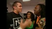 Wwe Smackdown 27.1.2006 Randy Orton, Booker T, Sharmell backstage