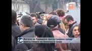 Жители на Харманли протестираха срещу присъствието на бежанци в града