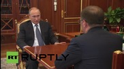 Russia: Putin meets Chairman of the Pension Fund Board Drozdov in Moscow