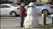 Страшният снежен човек! - смях