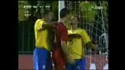 C. Ronaldo Clash With Brasils Marcelo 19 - 11 - 08