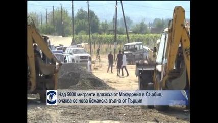 Над 5000 мигранти влязоха от Македония в Сърбия, очаква се нова вълна бежанци от Гърция