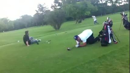 С този..голф..никога повече..