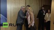 Belgium: EU 's Juncker meets with Greek opposition leader Theodorakis