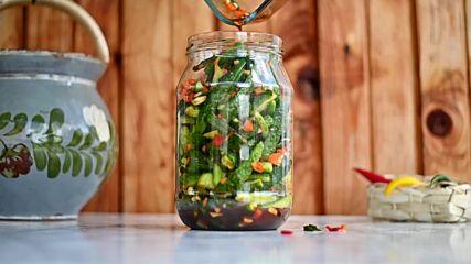Fall Pickling: Kimchi Cucumbers