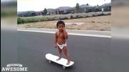 Дете манияк на скейтборд!
