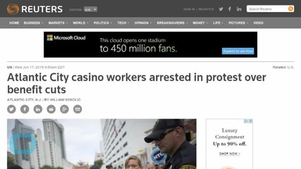 Atlantic City Casino Workers Arrested in Protest Over Benefit Cuts