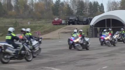 Russia: Special police display skills at homeland security exhibition in Krasnoarmeysk