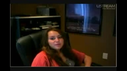 Miley Cyrus Live Video Chat part 3