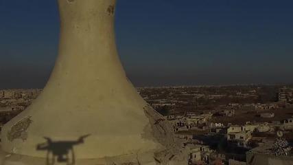 Syria: Drone footage shows devastation in Damascus neighbourhood